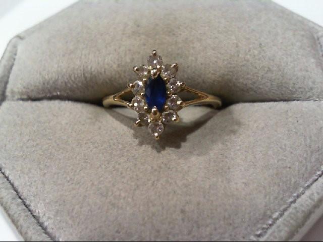 Lady's Diamond Cluster Ring 10 Diamonds .30 Carat T.W. 14K Yellow Gold 1.8g
