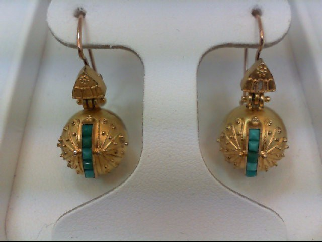 Gold Earrings 18K Yellow Gold 5.1g