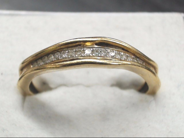 Lady's Diamond Wedding Band 17 Diamonds .17 Carat T.W. 10K Yellow Gold 2.1g