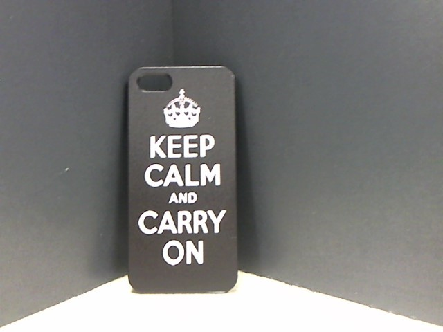 APPLE Cell Phone Accessory KEEP CALM & CARRY HARD CASE FOR IPHONE 5 & 5S