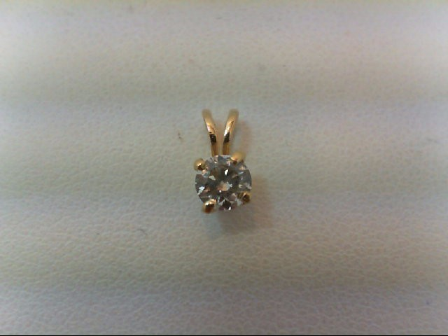 Gold-Diamond Solitaire Pendant .27 CT. 14K Yellow Gold 0.3g