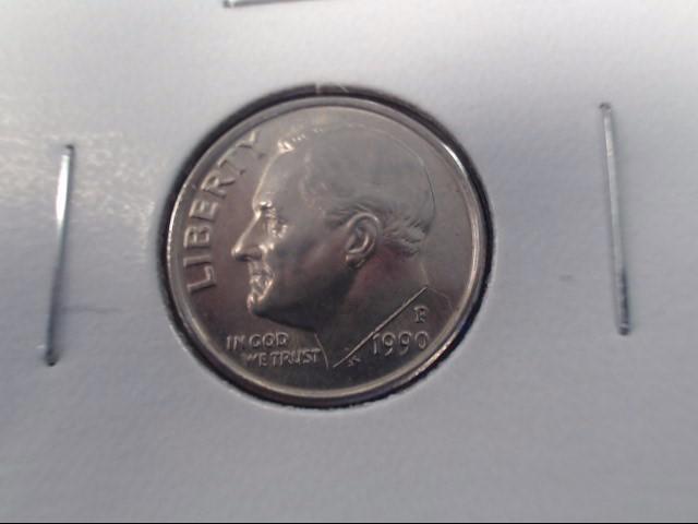 1990 P Philadelphia Mint Roosevelt Dime 10c