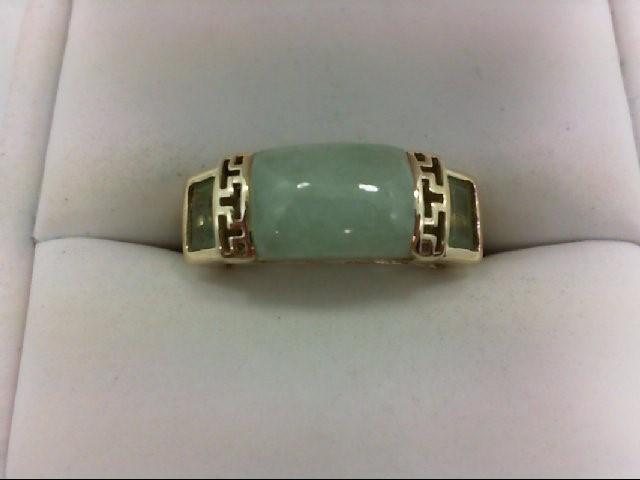 Peridot Lady's Stone Ring 10K Yellow Gold 3.2g