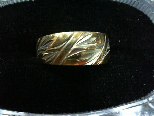 Lady's Gold Wedding Band 14K 2 Tone Gold 5.7g Size:6.5