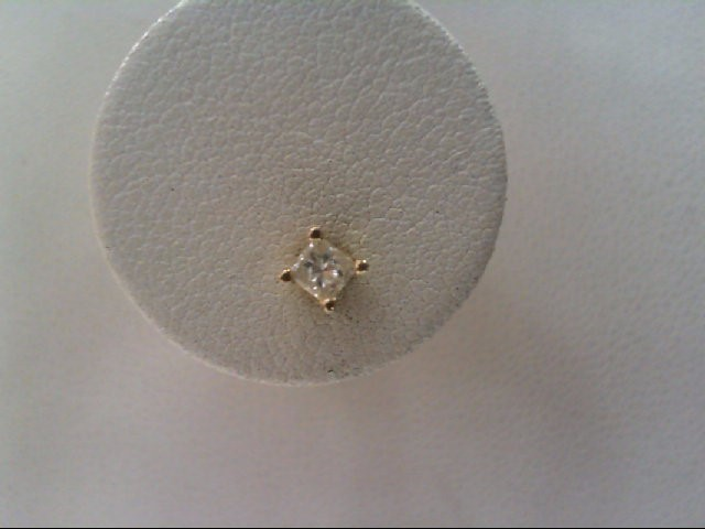 Diamond Earrings 14k y/g 2 Diamonds .24 Carat T.W. 0.5g