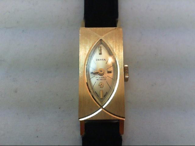 DESTA Lady's Wristwatch 17 JEWEL INCABLOC