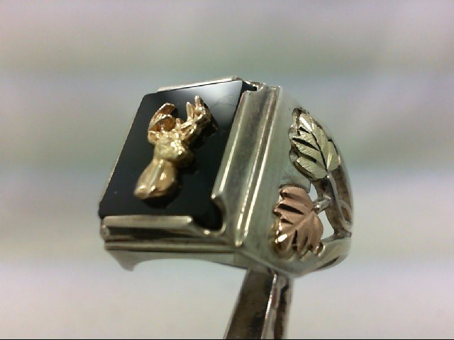 Onyx Gent's Silver & Stone Ring 925 Silver 8.5g