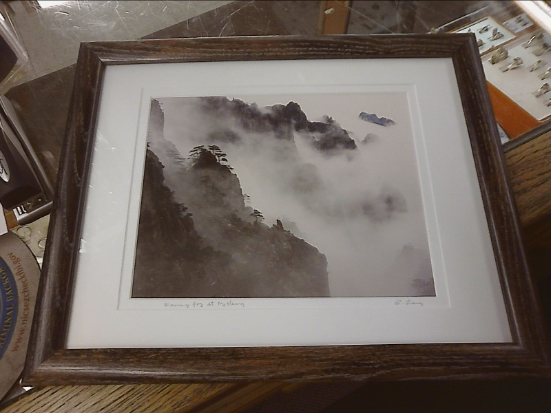PHOTOGRAPHGUO JI LIANG CHINESE PHOTOGRAPHER SIGNED FRAMED PHOTOGRAPH