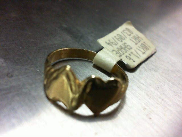 Lady's Gold Ring 10K Yellow Gold 1.6g Size:4