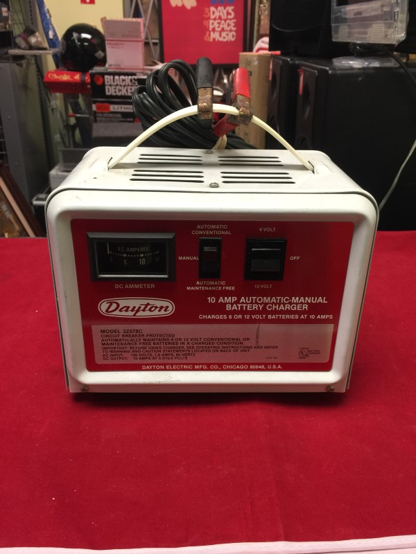 DAYTON Battery/Charger BATTERY CHARGER 2Z578C