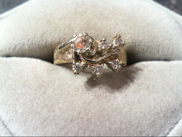 Lady's Diamond Engagement Ring 6 Diamonds .50 Carat T.W. 14K 2 Tone Gold 4.1g