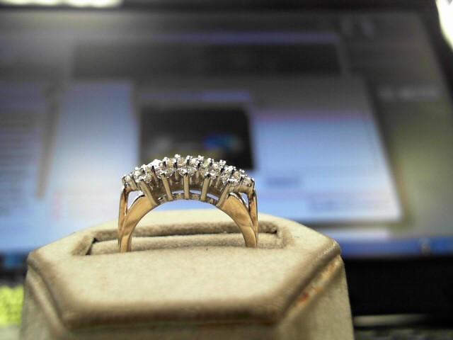 Lady's Diamond Cluster Ring 16 Diamonds 1.00 Carat T.W. 14K Yellow Gold 4.1g
