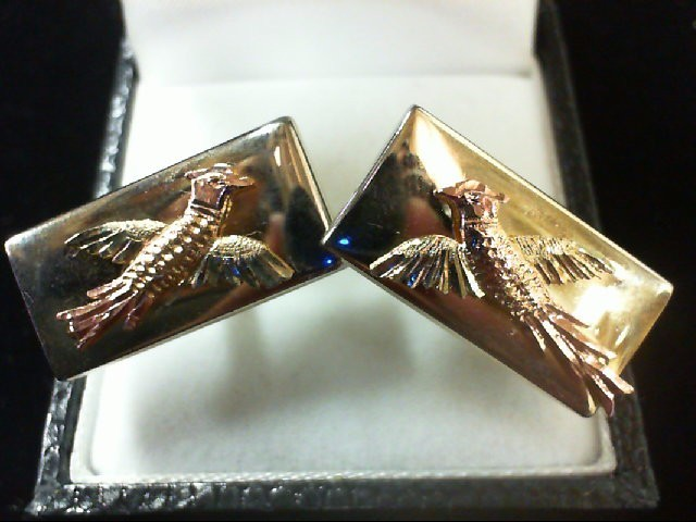 Gold Cuff Links 10K 2 Tone Gold 3g