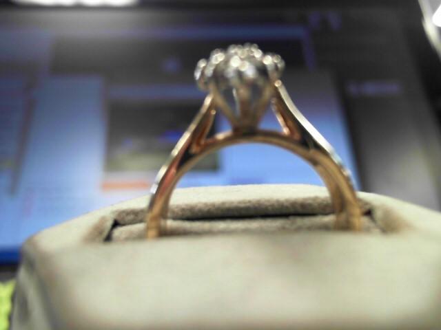 Lady's Diamond Wedding Set 11 Diamonds .51 Carat T.W. 14K Yellow Gold 7.4g
