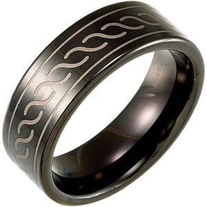 Gent's Ring Black Tungsten 13.68g