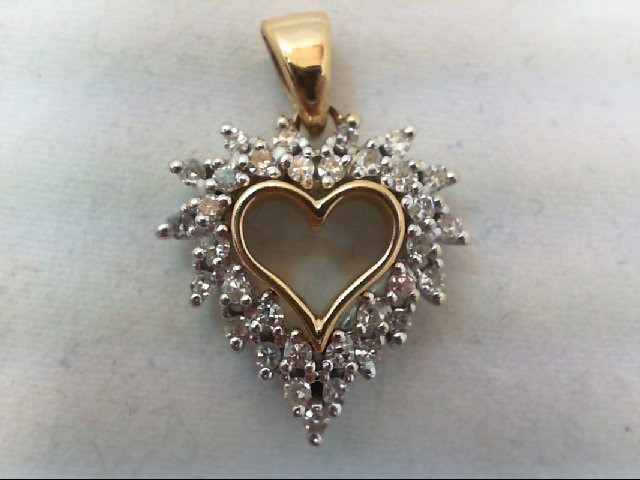 Gold-Multi-Diamond Pendant 33 Diamonds .66 Carat T.W. 14K Yellow Gold 3.4g