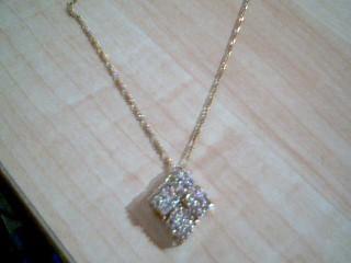 Gold-Multi-Diamond Pendant 36 Diamonds 2.52 Carat T.W. 10K Yellow Gold 4.5g