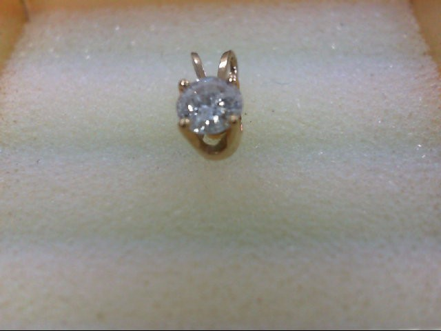 Gold-Diamond Solitaire Pendant 0.35 CT. 14K Yellow Gold 0.5g
