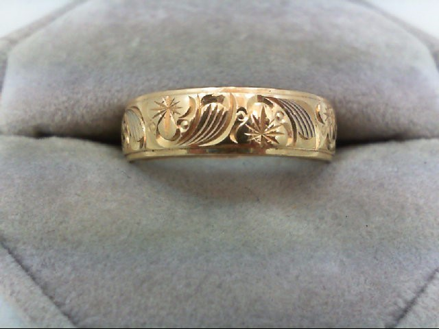 Gent's Gold Wedding Band 14K Yellow Gold 5.4g Size:9.5