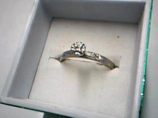 Lady's Diamond Engagement Ring .05 CT. 14K White Gold 1.49g