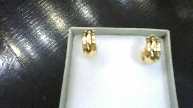 Gold Earrings 18K Yellow Gold 1g