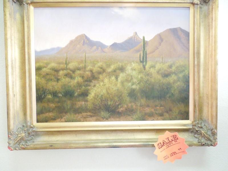 JOHN COX Painting DESERT LANDSCAPE