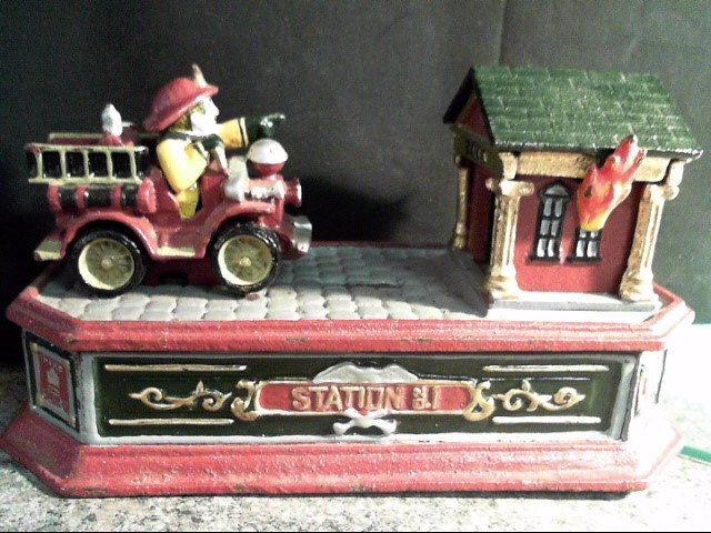 CAST IRON BANK FIREMAN REPRODUCTION
