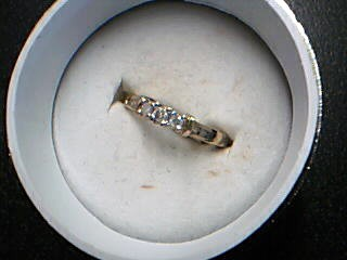 Lady's Diamond Engagement Ring 9 Diamonds .21 Carat T.W. 14K Yellow Gold 1.95g