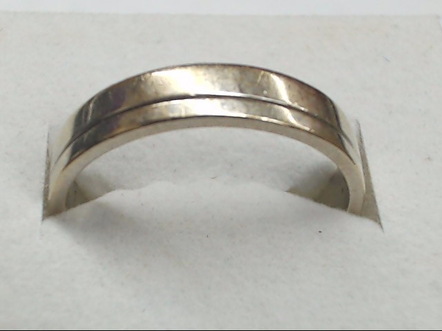 Gent's Gold Ring 18K White Gold 4.4g Size:8.8