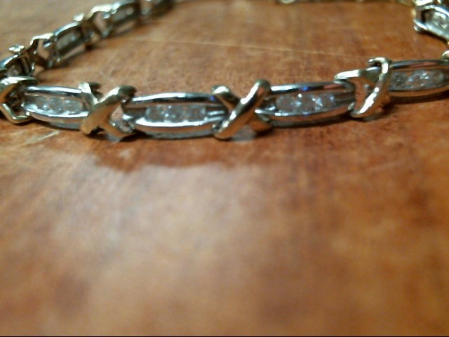 7G 10K YELLOW GOLD & WHITE GOLD DIAMOND BRACELET