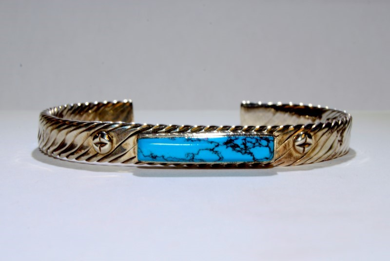 Turquoise Silver-Stone Bracelet 925 Silver 31.8g
