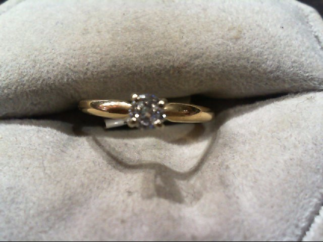 Lady's Diamond Engagement Ring .17 CT. 14K Yellow Gold 1.2g