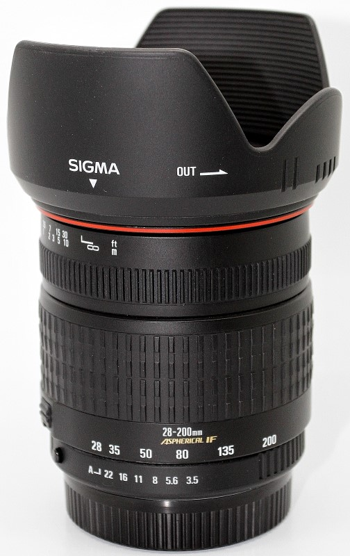 SIGMA LENS 28-200MM 1:3.5-5.6 MACRO FOR SA/PENTAX