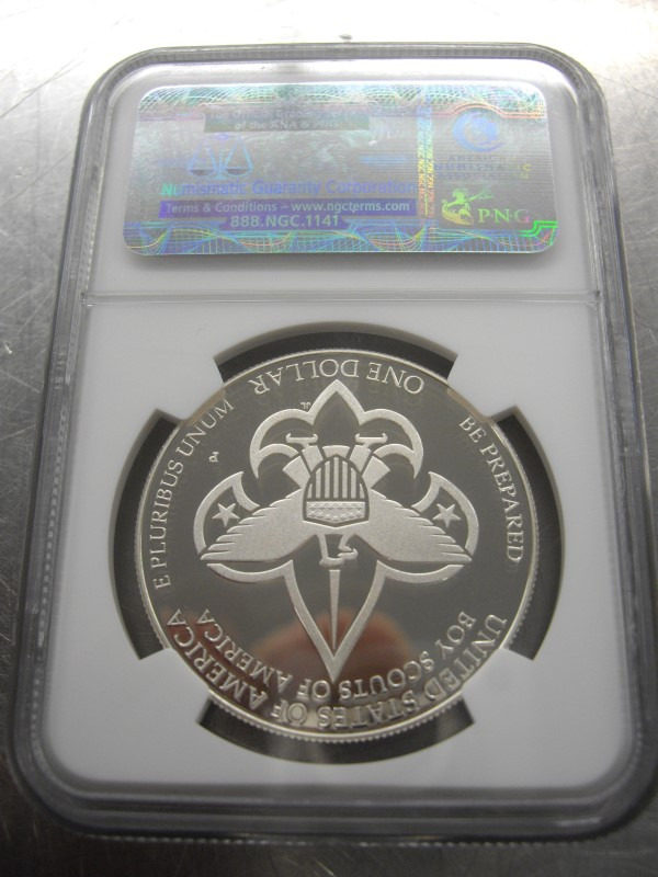 UNITED STATES Silver Coin 2010 P BOY SCOUTS S$1