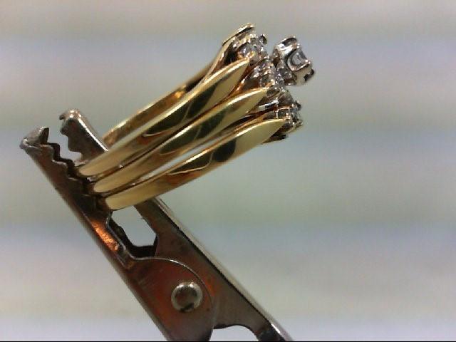 Lady's Diamond Wedding Set 19 Diamonds .51 Carat T.W. 14K Yellow Gold 6.5g