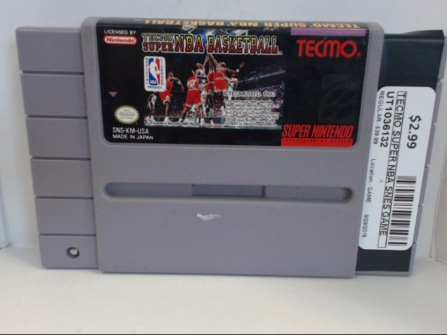 NINTENDO SNES SUPER TECMO NBA BASKETBALL *CARTRIDGE ONLY*