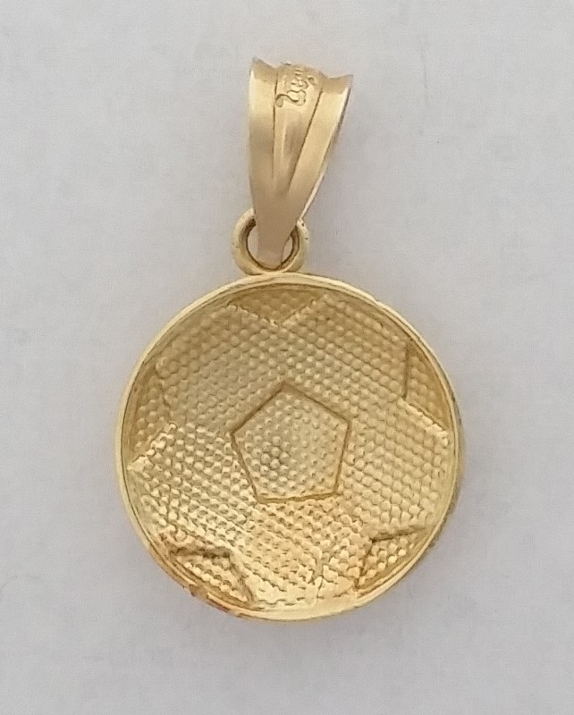 "14K SOCCER BALL PENDANT 3/4"" IN LENGTH"