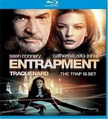 ENTRAPMENT, ACTION BLU-RAY MOVIE, STARRING SEAN CONNERY, GOOD CONDITION.