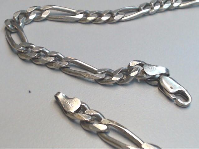 """18"""" Silver Figaro Chain 925 Silver 27.6g"""
