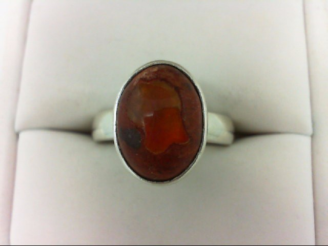 Opal Lady's Silver & Stone Ring 925 Silver 7g Size:7