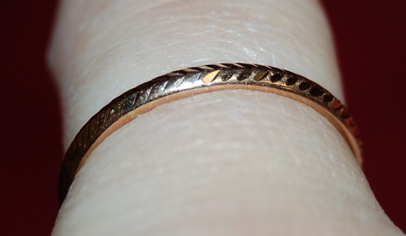 Lady's Gold Ring 14K Yellow Gold 0.06g Size:6