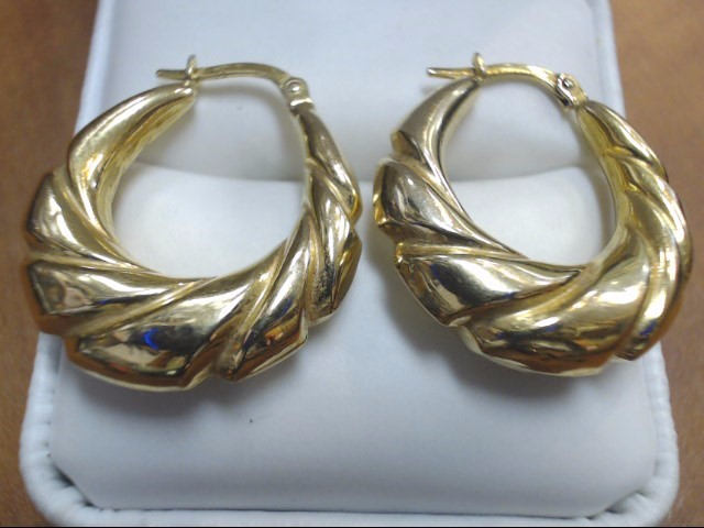 Gold Earrings 14K Yellow Gold 3.8g