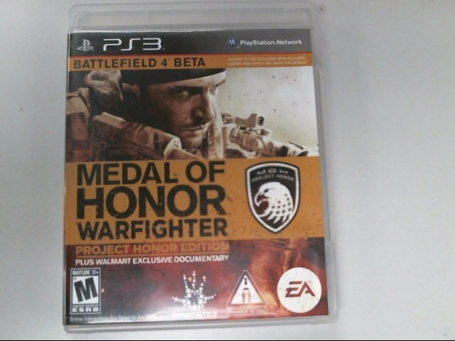 SONY Sony PlayStation 3 Game METAL OF HONOR LIMITED EDITION