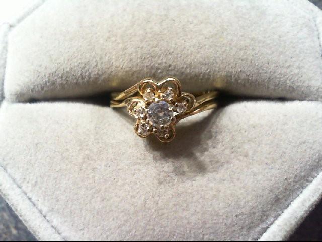 Lady's Diamond Wedding Set 7 Diamonds .21 Carat T.W. 14K Yellow Gold 3.2g