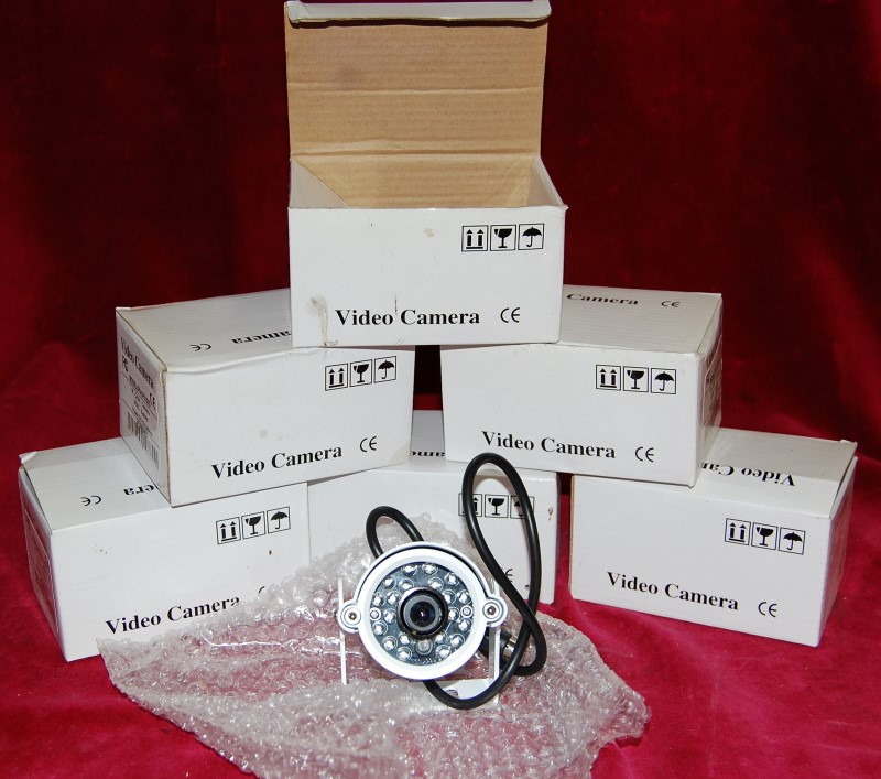 VIDEO CAMERAS SET OF 6
