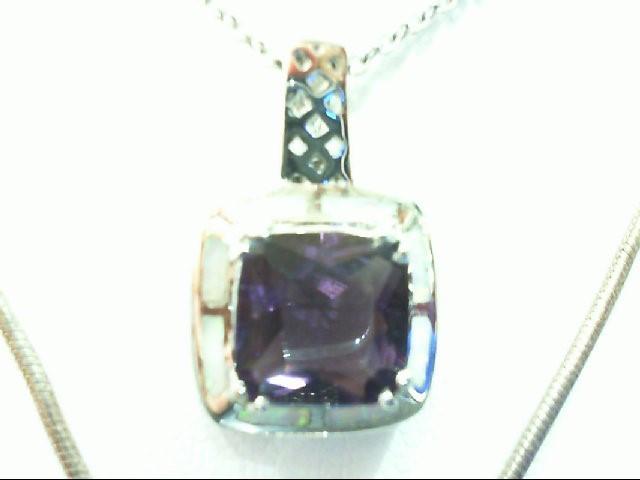 Amethyst Silver-Stone Pendant 925 Silver 7.1g