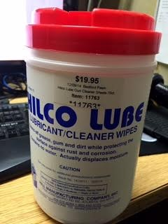 HILCO LUBE LUBRICANT/CLEANER WIPES