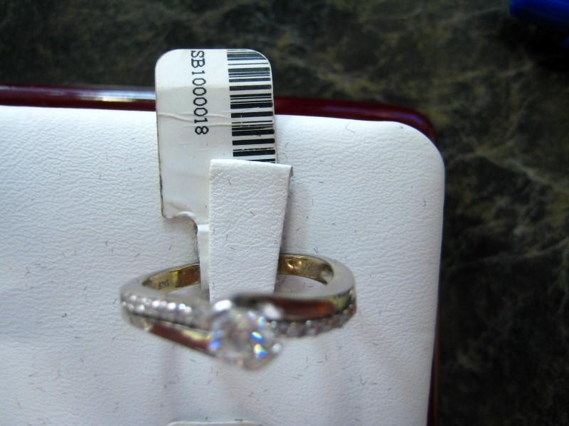 Lady's Diamond Engagement Ring 0.01 CT. 14K White Gold 4.1g