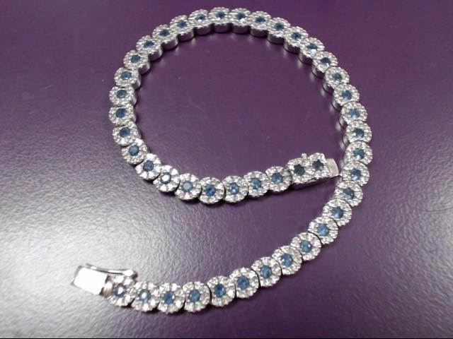 Sapphire Gold-Diamond & Stone Bracelet 252 Diamonds 1.260 Carat T.W.