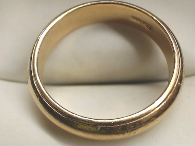Gent's Gold Wedding Band 14K Yellow Gold 6.8g Size:10
